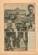 Spanish Civil War General Franco Parliament Palace Catalonia 1934 ILLUSTRATION