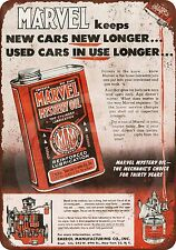 1952 Marvel Mystery Oil Reproduction metal sign tin 8 x 12