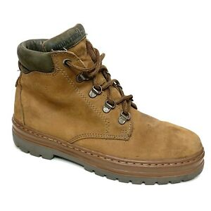Timberland Mid Hiker Chukka Boots Brown Nubuck Lace Up 69056 Women's Size 7.5 M