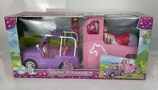 Steffi Love Jeep & Horse Trailer Girls Simba Toys Boxed New Barbie Car Vehicle