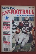 1981 GAME PLAN MAGAZINE  VIRGINIA TECH FOOTBALL CYRUS LAWRENCE COVER