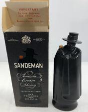 Vintage Wedgwood Sandeman Don Decanter Black Armada Sherry Liquor Bottle Antique