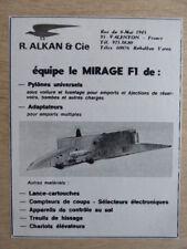 Appareil photo aéronautique ancien Boîtier Omera 1958 Avion Mirage F1 Vautour