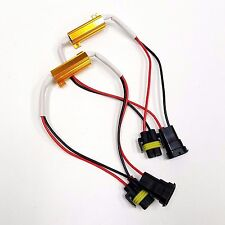 2x LED Low Beam Headlight No Error Load Resistor Wiring Harness with H11 Socket