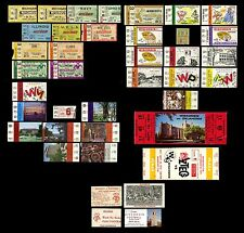 1935-79 Football Ticket Stubs Fulls Wisconsin Badgers (33) Green Bay Packers (2)