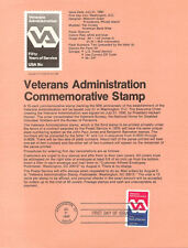 #8012 15c Veterans Administration Stamp - Scott #1825 USPS Souvenir Page