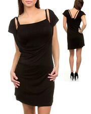 Women's Black Dress Tunic Long Shirt Sexy Casual Wear Summer Fashion Clothing