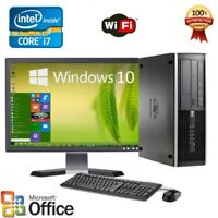Clearance Fast HP Desktop computer PC i7 8/16GB RAM Win 10 LCD + KB + MS