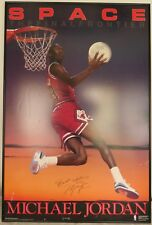 MICHAEL JORDAN SIGNED SPACE POSTER 1990