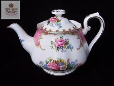 Royal Albert LADY CARLYLE 2 Cup Small / Breakfast TEA POT  EC Eng 1st c1940's