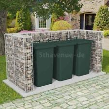 Gabionenkorb Mülltonnen-Box für 3 Mülltonnen U-förmig 250x100x120cm Stahl J3O8