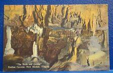 ENDLESS CAVERNS/c1940s Postcard/BRIDE & GROOM//VA