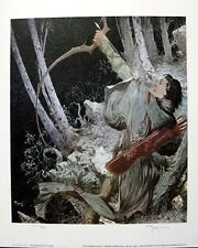 MICHAEL KALUTA LIMITED EDITION S/N LITHOGRAPH LEGOLAS DRAWS THE BOW OF GALADRIEL