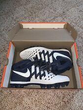 Nike Huarache V 5 Lax Lacrosse Football Cleats Navy/White Men'S Size 10