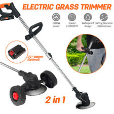 More details for electric cordless grass trimmer adjustable length garden weed strimmer cutter
