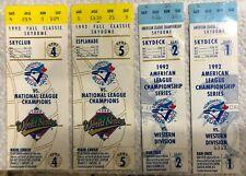 Toronto Blue Jays 1992 AL and World Series Ticket Stubs Lot of 4 Atlanta Braves