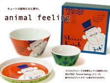 Shinzi Katoh Cute Monkey Ceramic Soup Bowl Plate Three Steps Set
