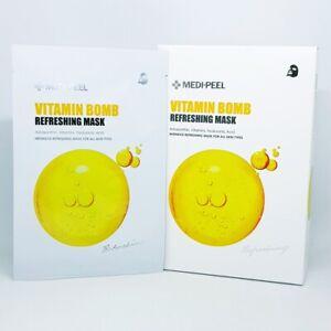 MEDI PEEL Vitamin Bomb Refreshing Mask Pack 25ml x 10pcs Moisturizing K-Beauty