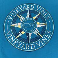 Vineyard Vines Mens Burgee Compass Whale Pocket L/S T-Shirt Blue Sz XXL-NEW TAGS