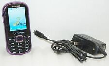Samsung Intensity 2 Verizon PURPLE Cell Phone II SCH-U460 1.3 Cam Slider Qwerty