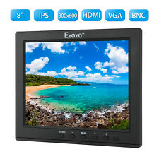 "Small 8"" inch IPS Color Ultra HD Monitor HDMI Video Audio Display for DVD FPV PC"