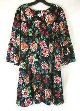 New Denim & Co. Fit & Flare V Neck Dress Floral PXL 3/4 Bell Sleeve Women XG3