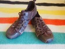 TSUBO Athleisure Mens Shoes US Size 9.5 Brown Leather Sneakers Lace Up EUC