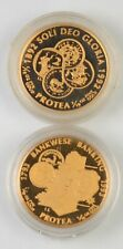 (2) 1992 & 1993 South Africa 1 Rand Protea Flower 1/10 Oz Fine Gold Coins *9555