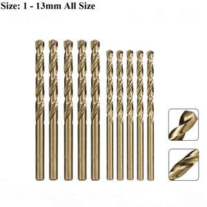 HSS Cobalt Twist Drill Bits HSS-Co For Hard Metal Stainless Steel 1mm - 13mm