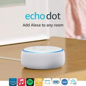 NEW Echo Dot (3rd Gen) Smart speaker with Alexa (Sandstone Fabric) Free Shipping
