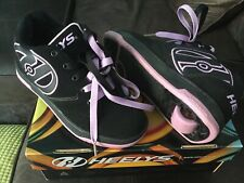 Girls UK Size 3 Black / Lilac Heelys Footwear