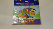 8 x party invitation cards with envelopes ( fire station)