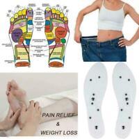 Massage Schuheinlagen Gel Pad Therapie Akupressur Fußpflege Magnetic Free C X5W2