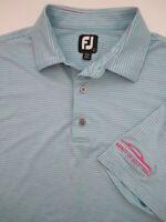 Mens Large FootJoy heather blue pink golf polo shirt Infiniti of Scottsdale
