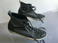 Converse Chuck Taylor gray hightops Mens leather shoes size 9 Womens 11