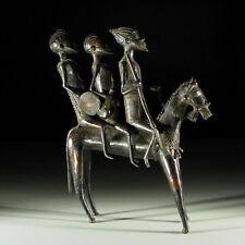 95666) Afrikanische Bronze Reiterfigur Mali Afrika