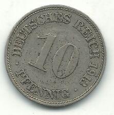 HIGH GRADE 1913 D GERMAN - GERMANY 10 PFENNIG-DEUTSCHES REICH-DEC839