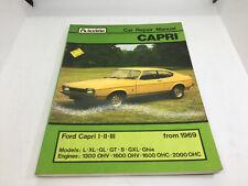 Autodata Ford Capri Car Repair Manual From 1969 Shop Stock 1982