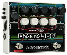 EHX Battalion Bass Preamp, Distortion and DI Pedal