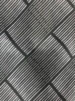Giorgio Armani Mens Silk Luxury Designer Necktie Italy Black Gray Tie EUC