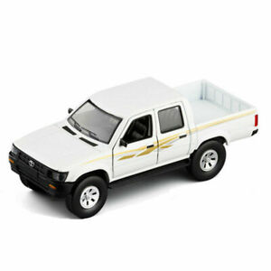 Toyota Hilux Pickup Truck 1:32 Model Car Diecast Gift Toy Vehicle Kids White New