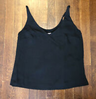 A New Day Women's Size XS Cami Top Black Sleeveless Spaghetti Strap Tank - Black