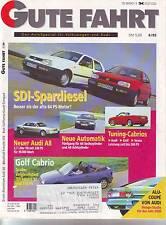 Gute Fahrt 6/95 Audi A8 3.7 V8 230 PS/Variant VR6 synro/California Coach Co/1995