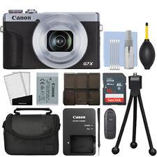 Canon PowerShot G7X Mark III 20.2MP 4K Digital Camera 4.2x Zoom Silver+ 16GB Kit