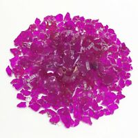 Glass Mosaic Tiles Hotpink Safety/Tempered Clear Broken Crafts Pieces Material