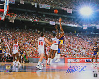 Lakers Magic Johnson Authentic Signed 16x20 1988 Finals Photo BAS Witnessed