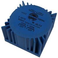 Talema 70065K Trafo 25VA 2x115V 2x22V 2x568mA Ringkern-Transformator 856821