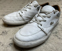Well Loved Leather Lacoste Sneaker Tennis Shoes Mens Size 9.5 White H6