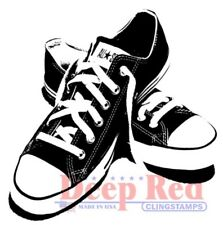 Deep Red Stamps All Star Sneakers Rubber Cling Stamp