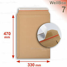 100 Enveloppes carton rigide renforcé 330x415 Wellbox 7